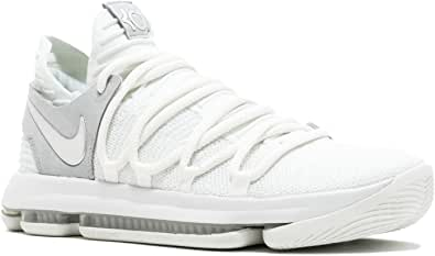 "Nike Mens Kevin Durant KD 10"" Chrome Basketball Shoes White/Chrome 897815-100 Size 9.5"