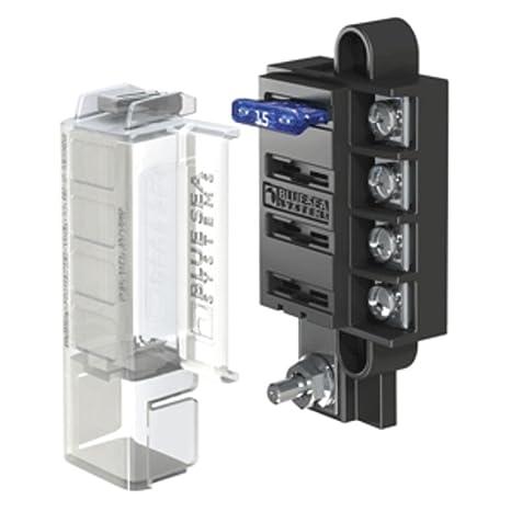 81818ed9b444b Amazon.com  Blue Sea 5045 ST Blade Compact Fuse Blocks - 4 Circuits ...