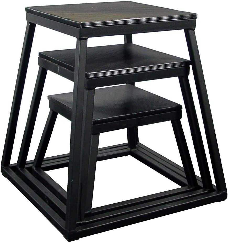 Plyometric Platform Box Set- 12 , 18 , 24 Black