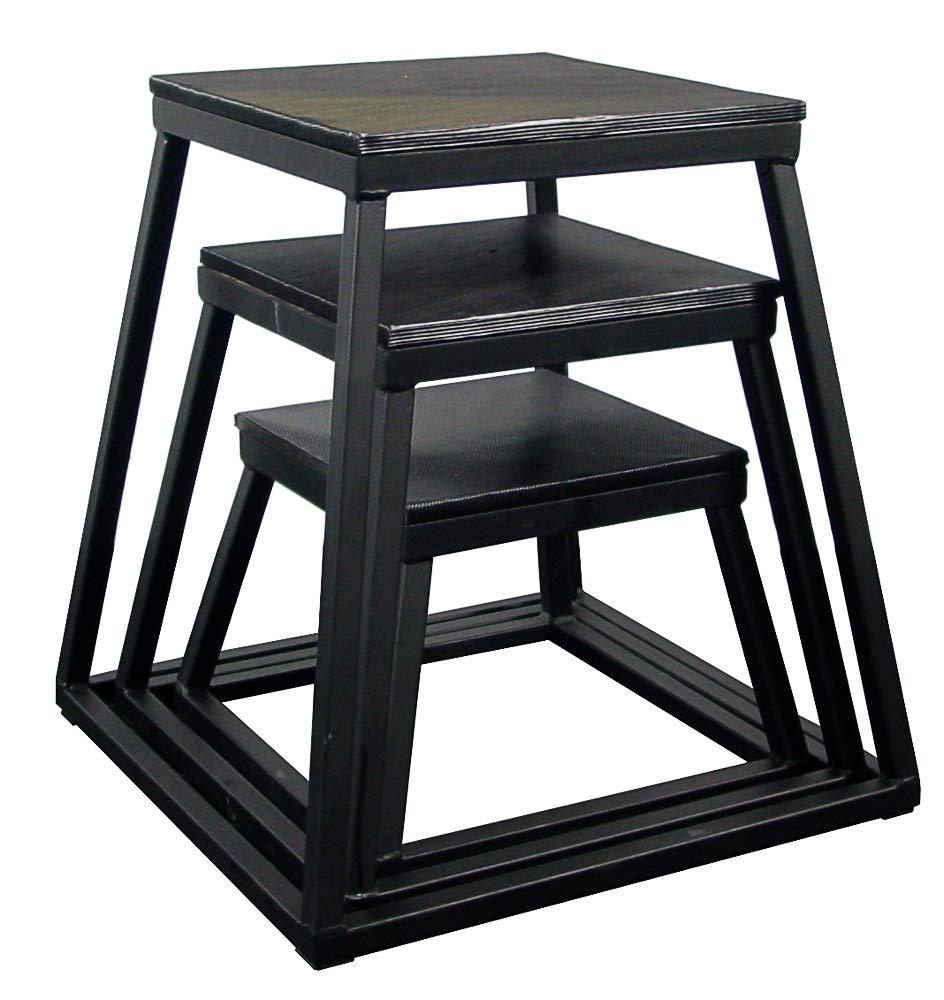 Plyometric Platform Box Set- 12'', 18'', 24'' Black