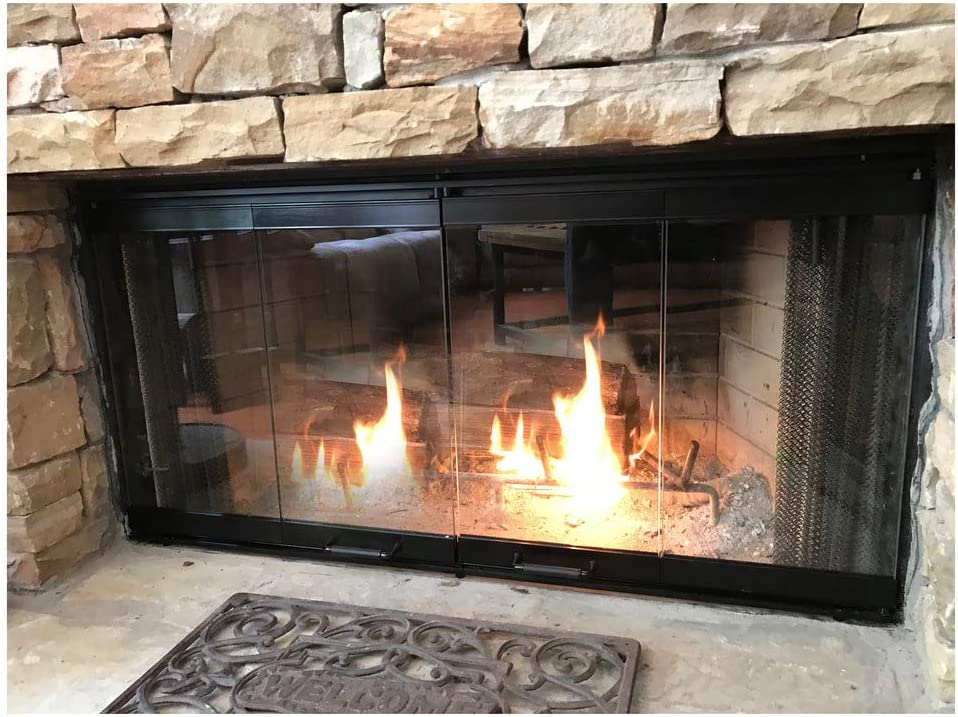Amazon Com Fireplace Glass Doors For Majestic Fireplace Home