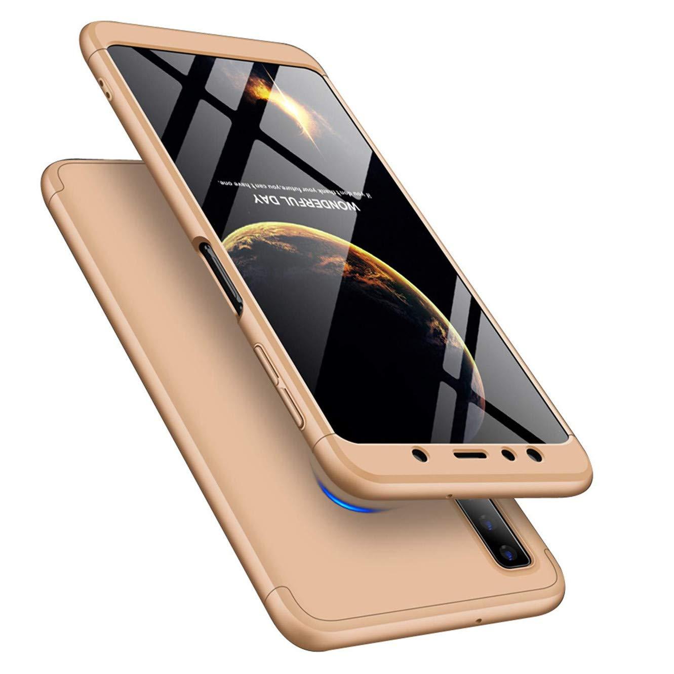 Ultra Delgada protecci/ón Completa a Prueba de Golpes para Samsung Galaxy A70 360 Grados MRSTER Funda para Samsung A70 Carcasa de PC r/ígida 3 en 1 Delgada