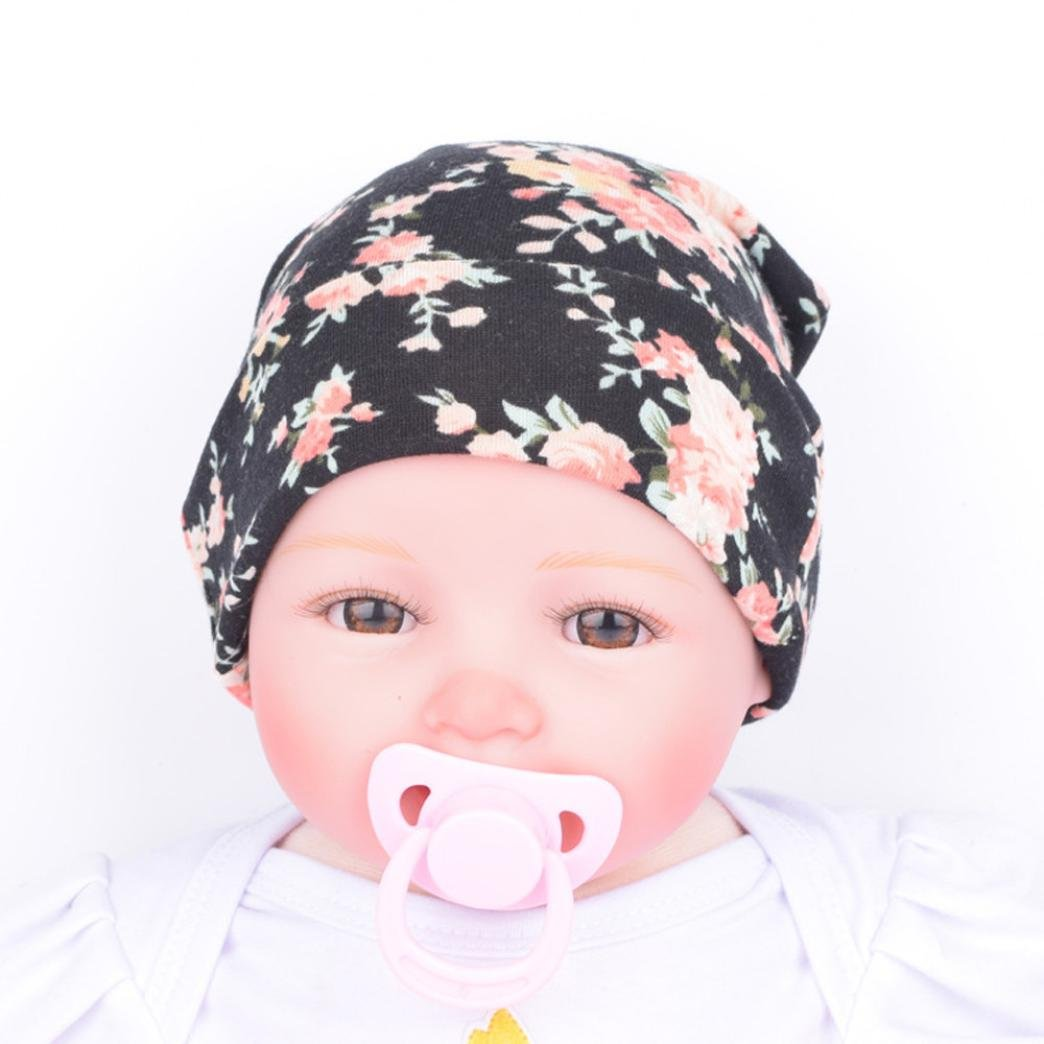 Tuscom Newborn Hat Newborn Baby Hats With Flower Hat For 0-5 Months Baby