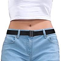 Elastic Womens Comfortable Invisible Belt for Jeans No Bulge Hassle Non-Slip No Show Adjustable