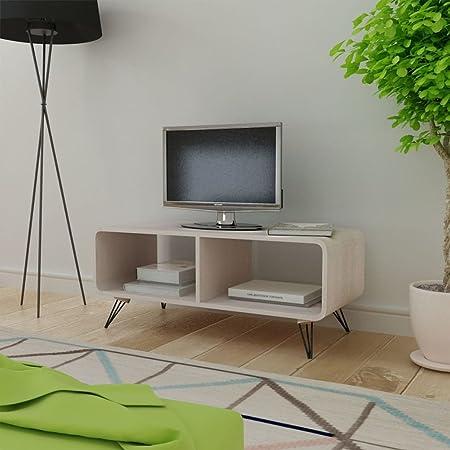 Tidyard Mesa para TV Mesa de Centro Mesa de Café Mueble TV Salón Mesa Televisión Mueble Comedor Televisor Bajo Estilo de Moderno 90x39x38,5cm Gris: Amazon.es: Hogar