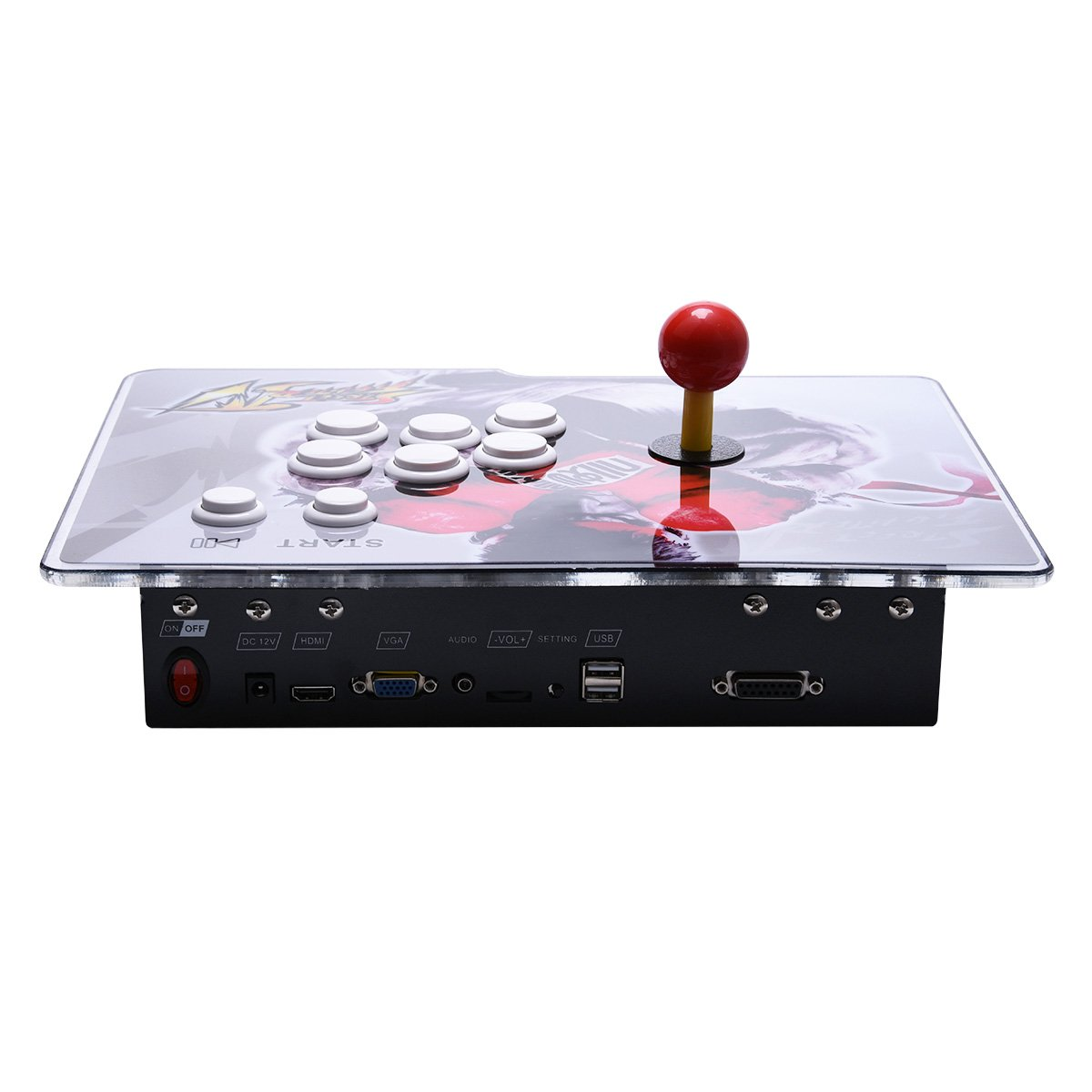 Yang HD Arcade Video Game Console Machine, 1299 Games, 2 Players 2 Single Consoles Pandora's Box 5S Multi Player Home Arcade, 1299 Games All in 1, Non-Jamma HDMI VGA by Yang (Image #4)