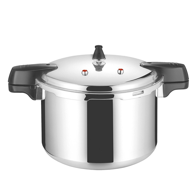 Aluminium Pressure Cooker - 4.8L, 6L, 7.5L, 9L, 15L, 18L (9.0 Litres) SQ Professional