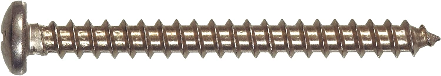 6-Inch x 1//4-Inch The Hillman Group 823214 Stainless Steel Pan Head Phillips Sheet Metal Screw 100-Pack