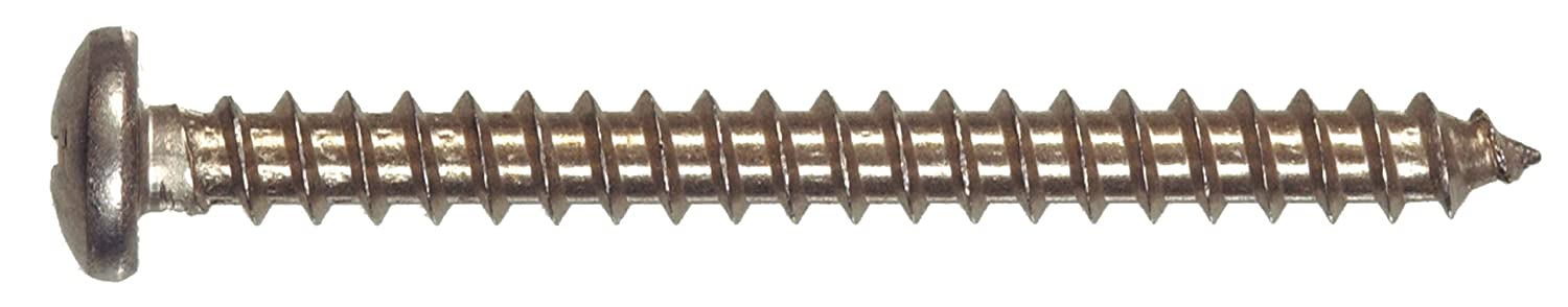 10 x 2-Inch 2-Pack The Hillman Group 490737 Stainless Steel Pan Head Phillips Sheet Metal Screw