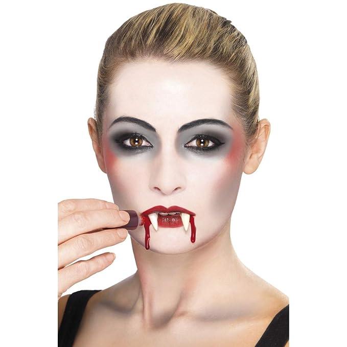 NET TOYS Set de Maquillaje 4 Partes Disfraz de Vampiro | Blanco-Rojo-Negro | Maquillaje Accesorio Unisex Multiuso Chupa Sangre | Ideal para Halloween y ...
