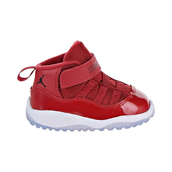uk availability 24887 09388 NIKE Jordan 11 Retro BT Toddler's Shoes Gym Red/Black/White 378040-623
