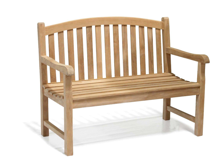 Jati Gloucester Teak Curved Back 2 Seater Garden Bench 1.2m - 4ft Garden Bench Brand, Quality & Value