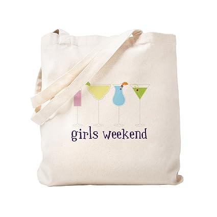 f4ea66f31cab CafePress Girls Weekend Natural Canvas Tote Bag, Cloth Shopping Bag