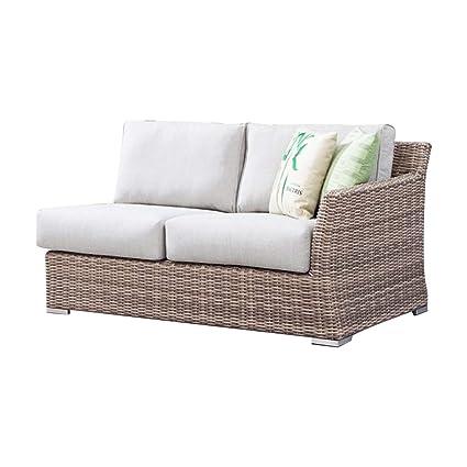 Tremendous Amazon Com Savannah Outdoor Left Arm Loveseat Sectional Unemploymentrelief Wooden Chair Designs For Living Room Unemploymentrelieforg