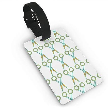 bb5ba8d3767e Amazon.com: ENAWTags Scissor Funny Luggage Tags Name ID Suitcase ...
