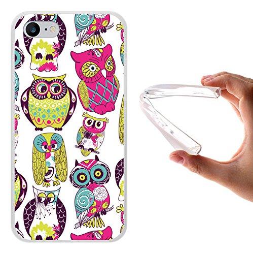 iPhone 8 Hülle, WoowCase Handyhülle Silikon für [ iPhone 8 ] Mehrfarbeneulen Handytasche Handy Cover Case Schutzhülle Flexible TPU - Transparent