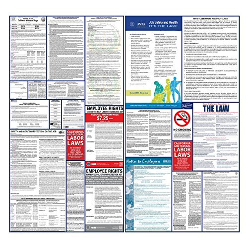 2017 California State And Federal Labor Law Poster Set   Laminated   All In One Osha   Ca Compliant  Laminated