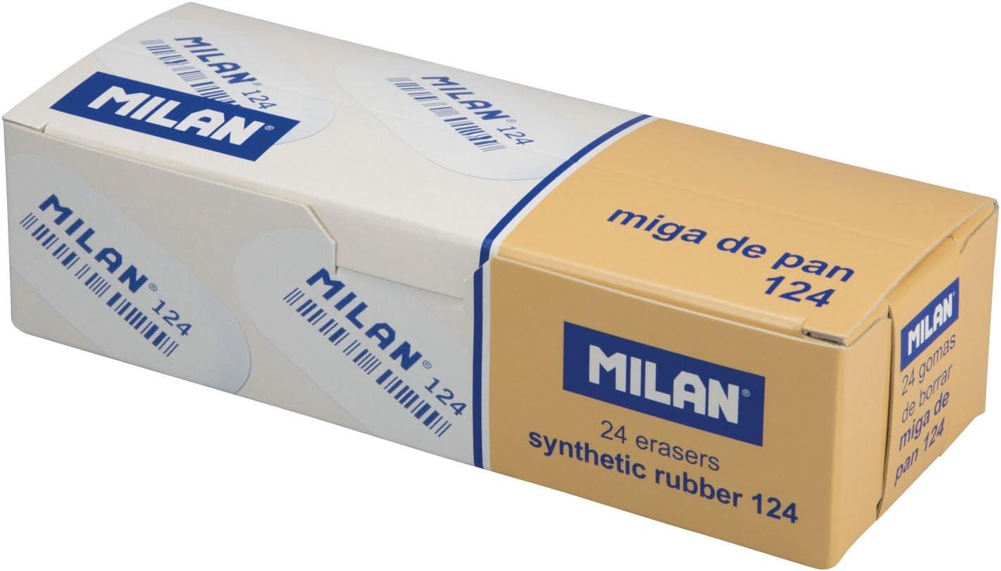 Milan - Caja de 24 Gomas de borrar miga de Pan ovaladas, Lengua de ...