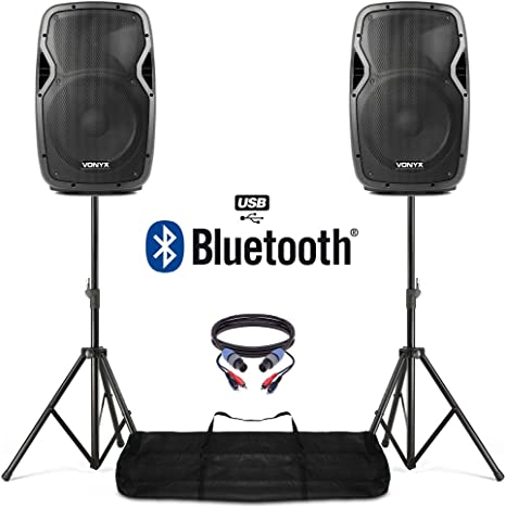 bluetooth powered dj speakers