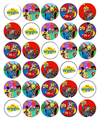 (The Wiggles Logo Simon Emma Anthony Edible Cupcake Toppers ABPID05085)