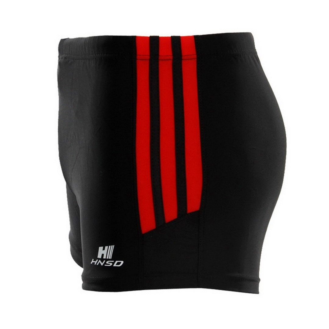 FEOYA Men's Square Leg Swimsuit Swimming Brief Swimming Trunks Swimming Shorts Size XXL - Black by FEOYA (Image #3)