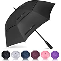 ZOMAKE Golf Umbrella 58/62/68 Inch, Large Windproof Umbrellas Automatic Open Oversize Rain Umbrella with Double Canopy…