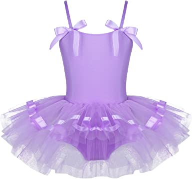 iiniim Kids Girls Sequined Ballet Tutu Dress Ballerina Gymnastics Leotard Outfit Dance Wear Costumes