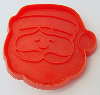 Vintage Red Plastic Hallmark Santa Cookie Cutter Face Mini Cookie Cutter
