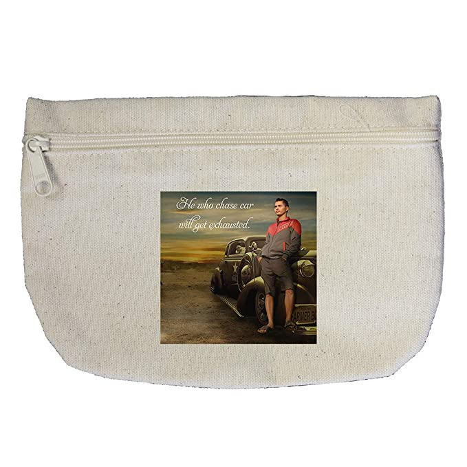 Hooker With Motorcycle Pedal Ass All Over Town Cotton Canvas Makeup Bag
