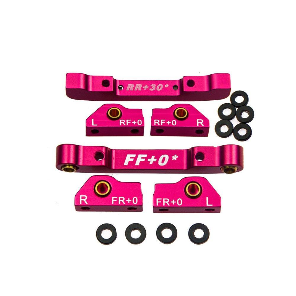 XUNJIAJIE Pink (FF+0)+ (RR+30) Suspension Mount Set fü r Sakura D4 AWD&RWD RC Car Pack of 1set