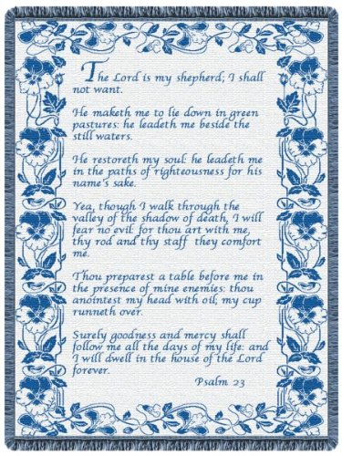 23rd Psalm Country Blue Tapestry Throw ()