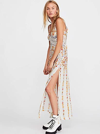 e6c8bca27c4 Free People Claire Printed Maxi Dress (Ivory Combo) (M) at Amazon Women s  Clothing store