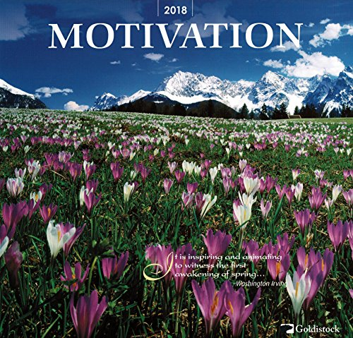 "Goldistock ""Motivation"" Eco-friendly 2018 Large Wall Calendar - 12"" x 24"" (Open) - Thick & Sturdy Paper - A New Year Brings New Motivation"