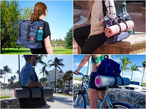 61f4319147 LUCKAYA Yoga Mat Bag Tote Bag Backpack  Multi Purpose Carryall Bag for  Office