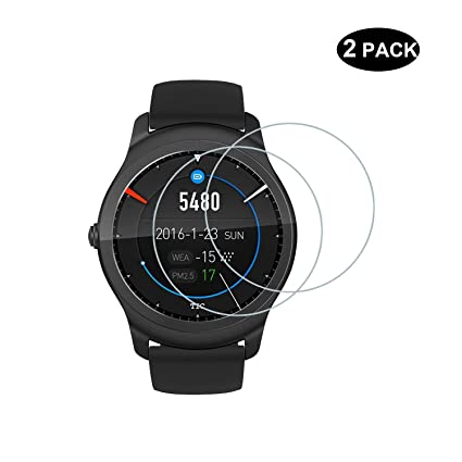 RBEIK Ticwatch 2 Smartwatch Screen Protector [Tempered Glass] - Premium 9H Hardness Tempered Glass Screen Protector for Ticwatch 2 Smartwatch with ...