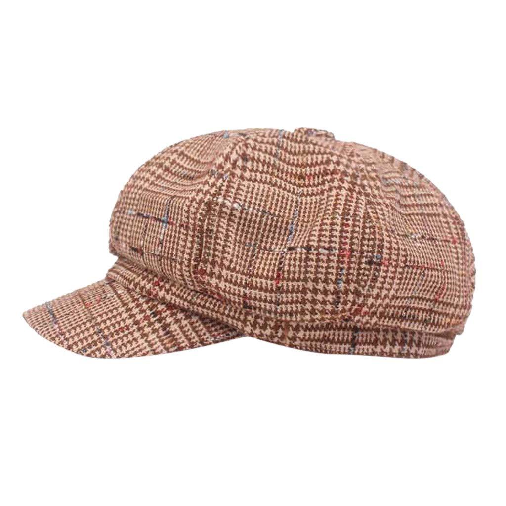 FEDULK Unisex Newsboy Gatsby Classic Retro Cap Golf Cabbie Driving Women Men Beret Hat(C, One Size)