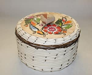 Oro Import Tortilla Warmer Keeper Eco Friendly Tortillero de Mimbre 8 Inches x 5 Inches