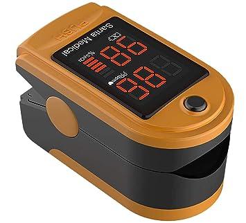 Amazon.com: Santamedical SM-150 - Pulsómetro de oxígeno de ...