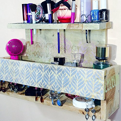 Merveilleux Makeup Organizer Pallet Wood Hanging Shelf Wall Vanity /floating Shelves/  Jewelry Storage/ Reclaimed