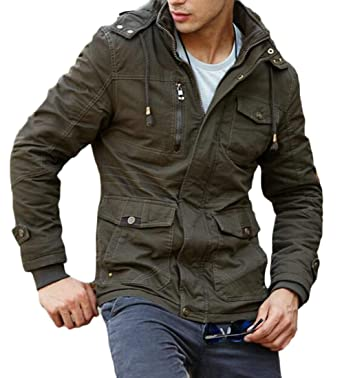 Fubotevic Men Stitching Thermal Winter Thicken Hoodie Down Coat Jacket Overcoat