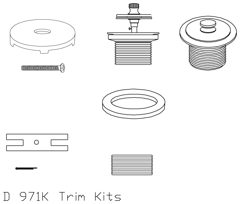 Westbrass D971K-07 Conversion Kit, Satin Nickel