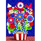 """Patriotic Bouquet"" – Patriotic – STANDARD Size, 28 Inch X 40 Inch, Decorative Double Sided Flag – Exclusively Made in the USA – Copyrights and Licensed by Custom Decor Inc. Review"