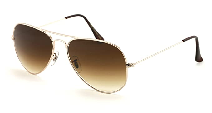 d7ac6580abb VW Eyewear - Classic Tear Drop Premium Glass Lens Aviator Sunglasses -  Standard Size (Gold