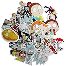Drama Rick and Morty Stickers Decal For Snowboard Laptop Luggage Car Fridge DIY Styling Vinyl Home Decor (35pc)
