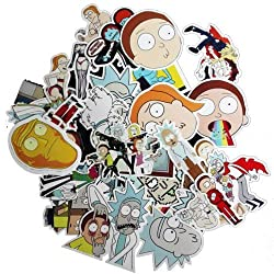 50pcs Drama Rick and Morty Stickers Decal For Snowboard Laptop Luggage Car Fridge DIY Styling Vinyl Home Decor