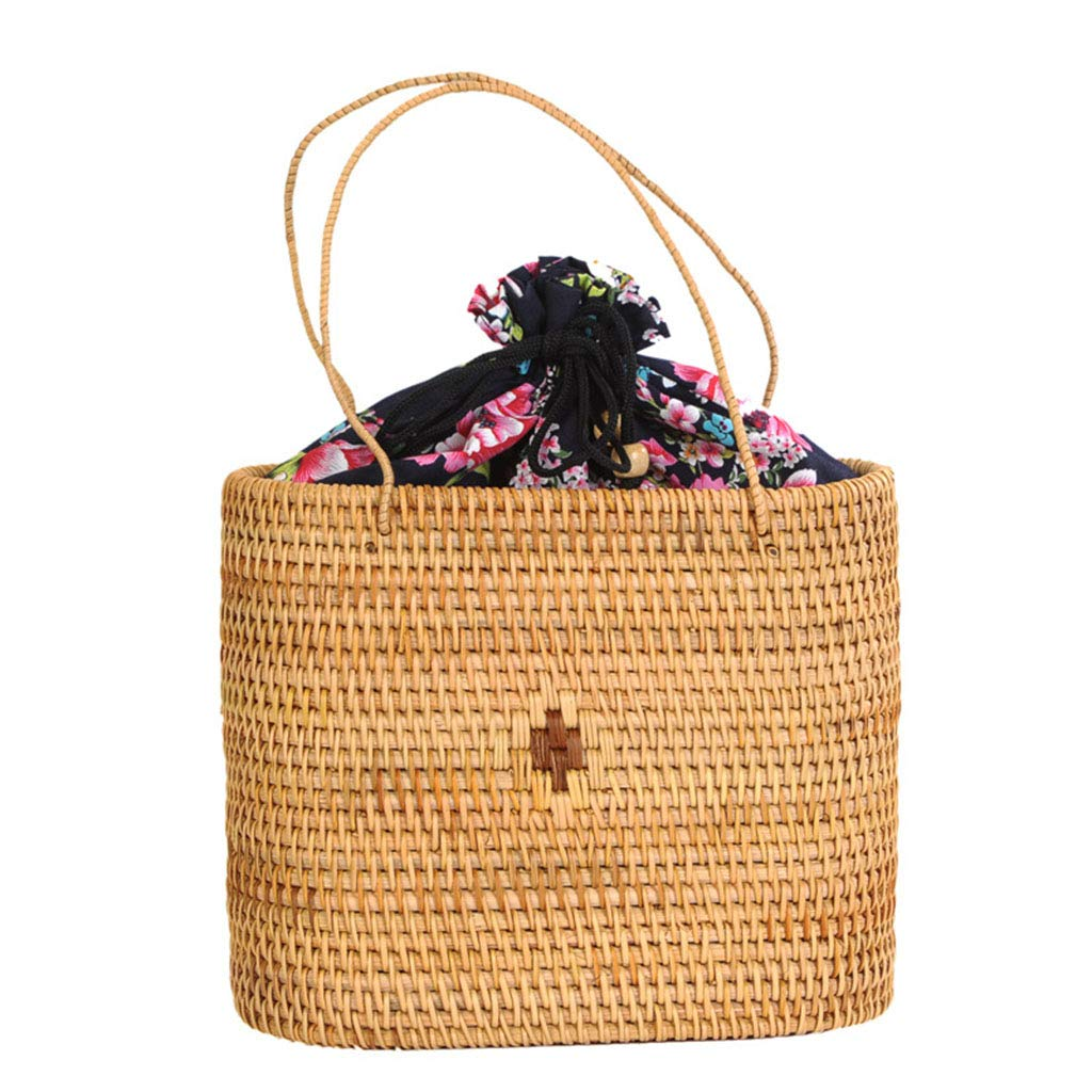 Women's Bag, Rattan Bag - Medicine Box Style - Cosmetic Crossbody Bag - Travel Beach Bag - Hand-Woven Bag by BHM (Image #3)