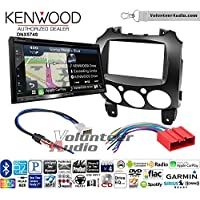 Volunteer Audio Kenwood DNX574S Double Din Radio Install Kit with GPS Navigation Apple CarPlay Android Auto Fits 2011-2014 Mazda 2