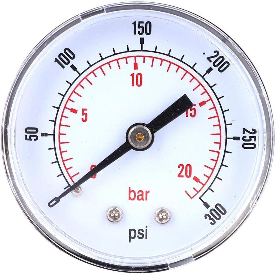 para Aire Aceite 0-100psi 0-7bar Man/ómetro 50 mm Marque 1//8 BSPT Medidor de presi/ón axial de conexi/ón Posterior Gas etc. Agua