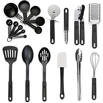 kitchen utensil set 20 piece stainless steel cooking utensils nonstick utensils spatula set non - Best Kitchen Utensils