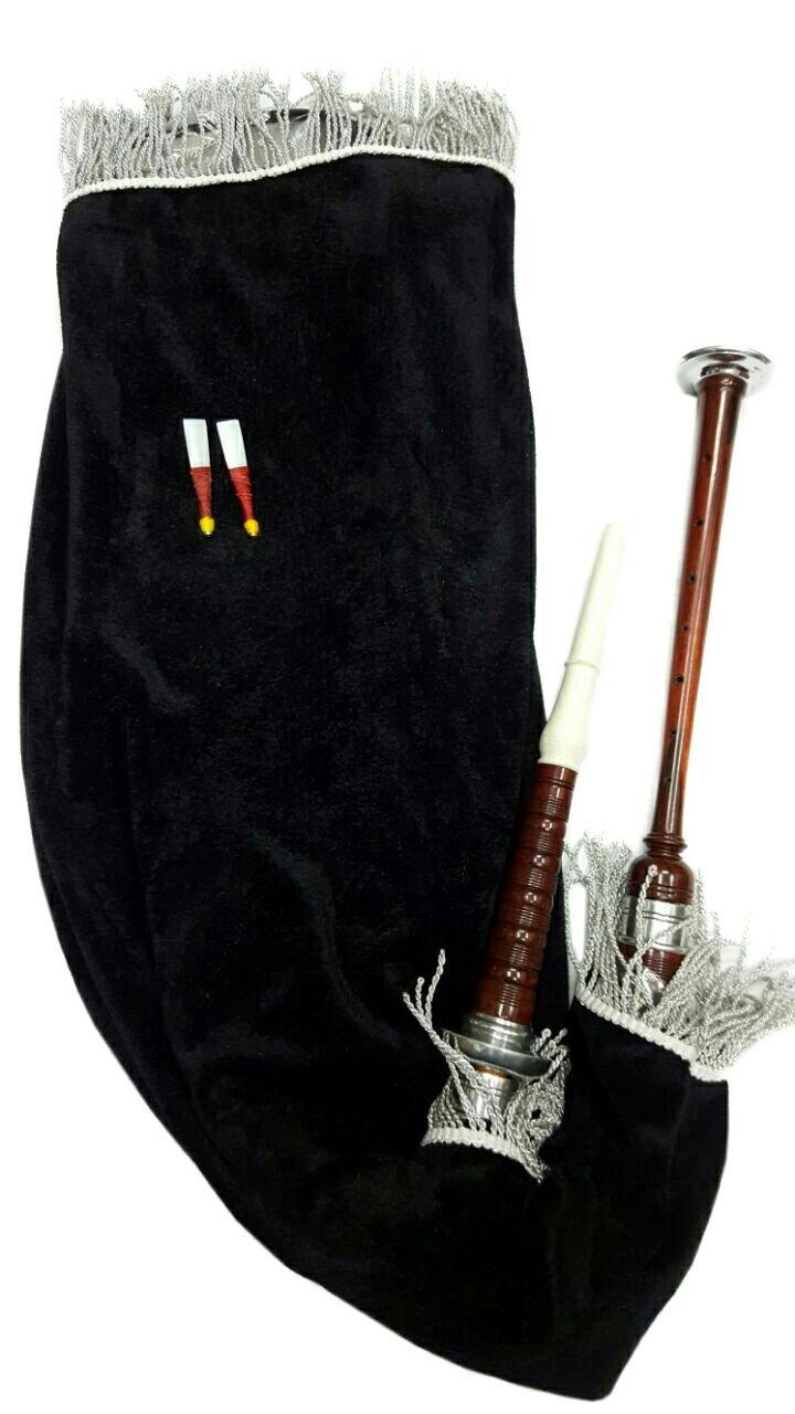 Scozzese d oca Esercizio Suonatore di Cornamusa NEU marrone argento supporto per personal communication Bag in velluto nero